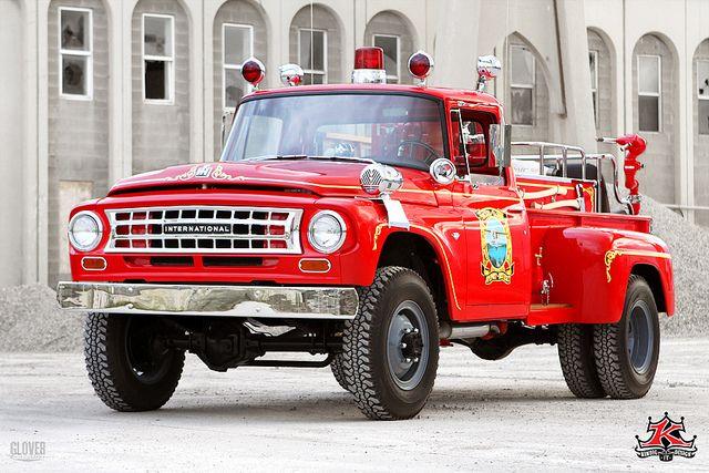 Vintage International Fire Truck by akreone, via Flickr