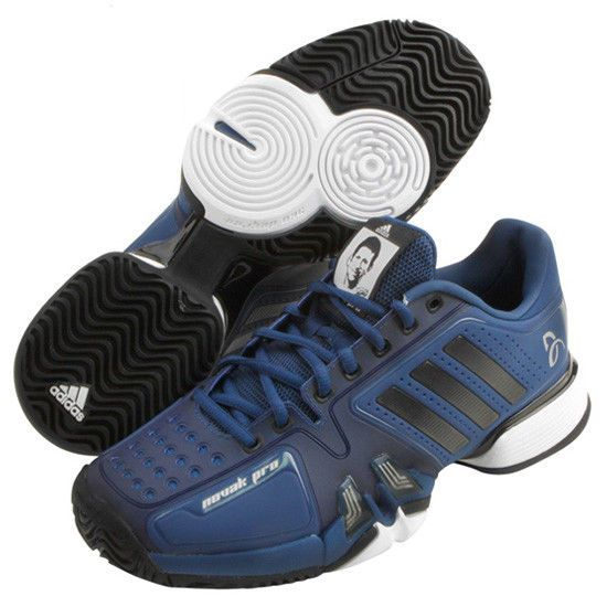 new concept fdd44 2a0ea adidas Novak Pro Mens Tennis Shoes Djokovic Blue Sneakers Barricade CM7771  adidas