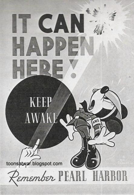 Keep Awake, Remember Pearl Harbor | Mickey Mouse | ToonsAtWar.com
