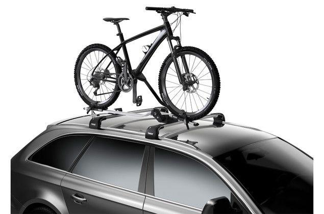 Thule Proride 598 Roof Mounted Car Bike Rack Silver In 2020 Bike Roof Rack Thule Roof Bike Rack Best Bike Rack