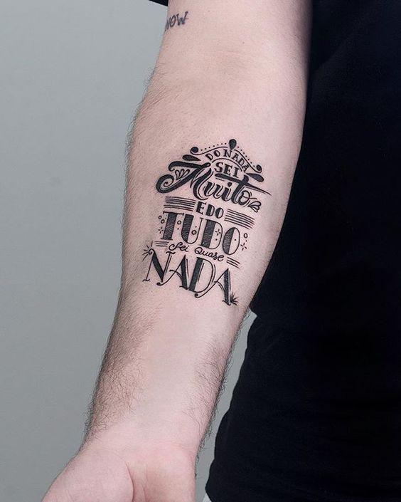 Coleção Das Melhores Tatuagens Escritas Para Homens E Mulheres