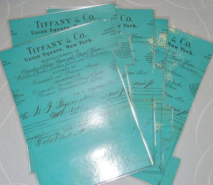 Chic up your A5 planner with this set of 5 Tiffany & Co inspired laminated dividers.