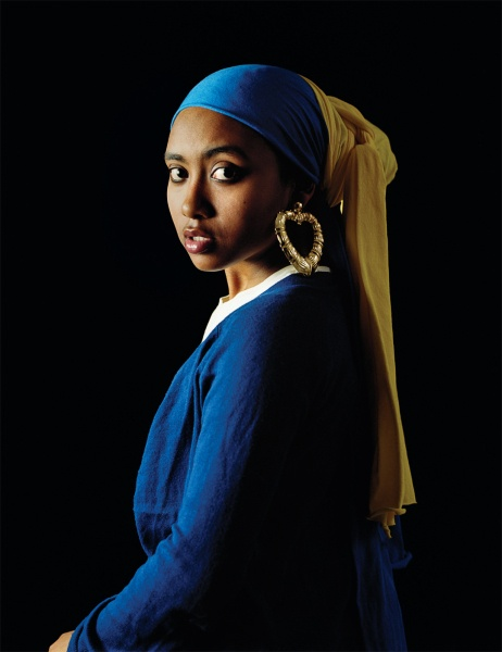 This awesome!   Girl with a Bamboo Earring   Awol Erizku