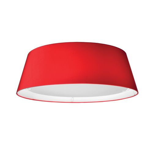 TDLED-17FH-RD | 14W LED Flush Mount, Tapered Drum Shade, Red - TDLED-17FH-RD