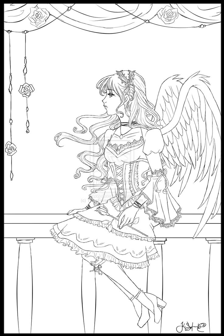 Loli Angel Lineart By TerraForeverdeviantart On DeviantART Fantasy Myth Mythical Fairy ColoringAdult Coloring PagesColoring