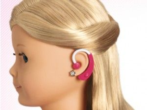 Hearing Aid Doll accessory for kids. Perfect for Deaf/HH kids or any child to begin exposure and acceptance of differences early....not sure I like the hearing aid though but the thought is a step in the right direction