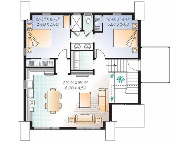 shedfor garage apartment plans 2 bedroom