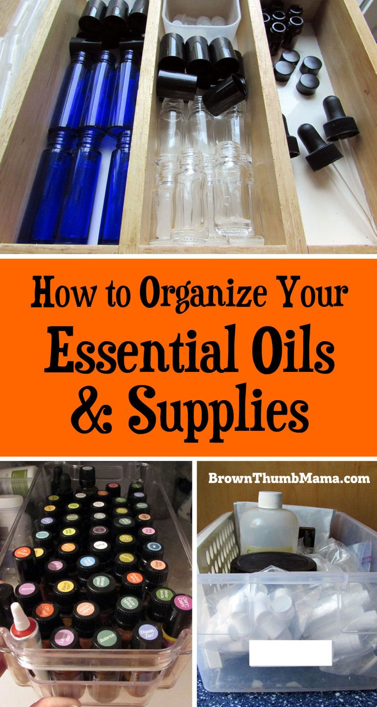 The best tips for organizing your essential oils and supplies. Never lose another oil or run out of roller bottles again!