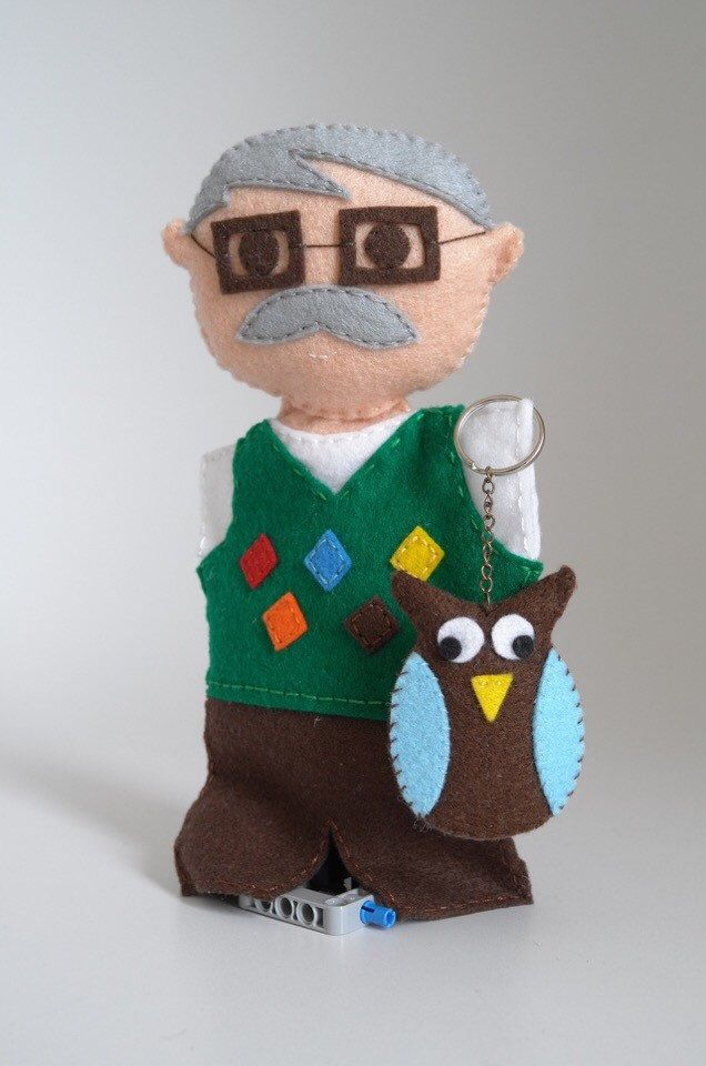 A personal favourite from my Etsy shop https://www.etsy.com/listing/268024529/grandfather-doll-and-his-owl-keychain