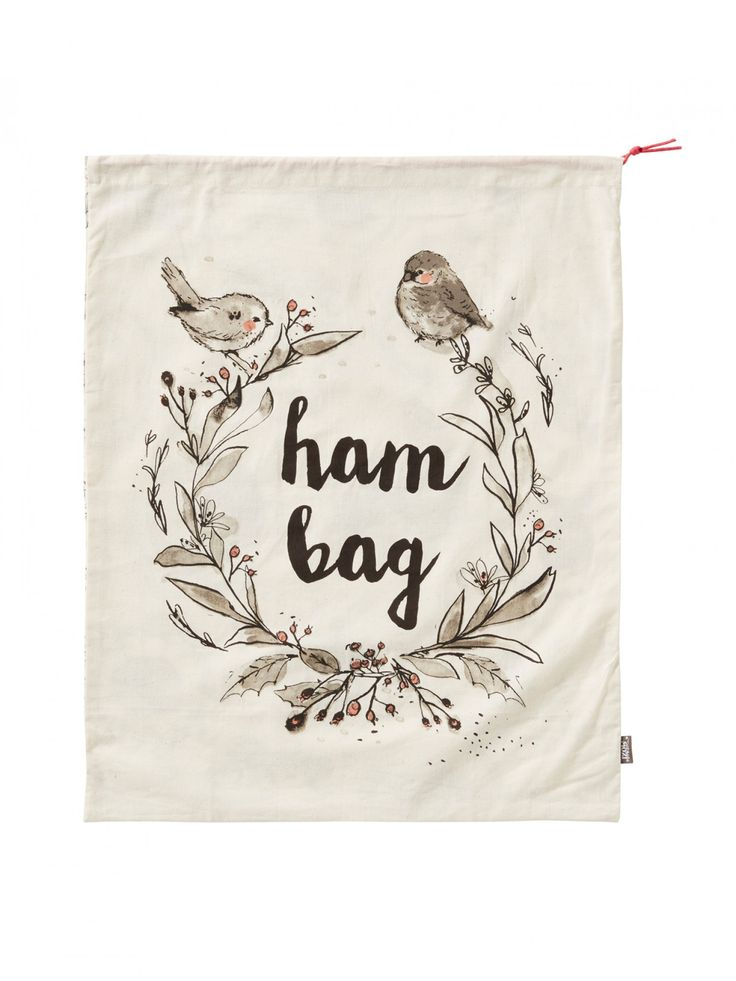 Silent Night Christmas Ham Bag