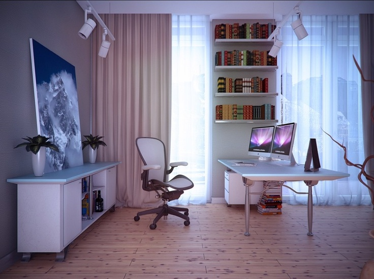 Contemporary Home Office Design Ideas: White Contemporary Home Office Design  Ideas ~ Office