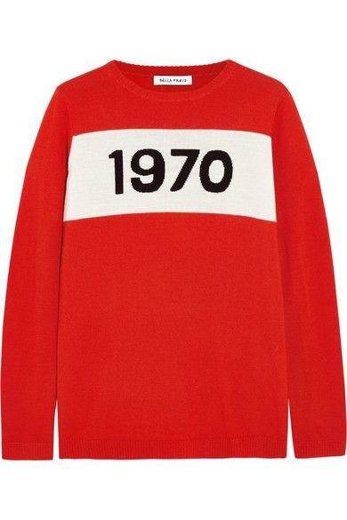 Bella Freud | 1970 intarsia wool sweater | NET-A-PORTER.COM
