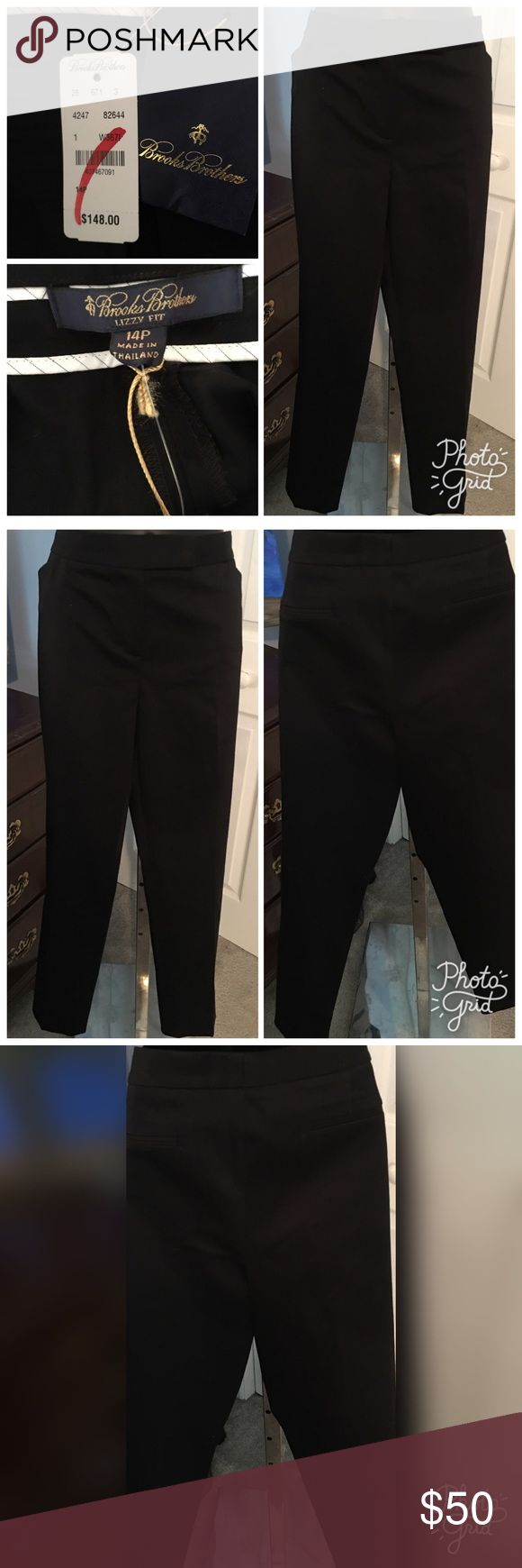 "Brooks Brothers Petite Pants Brooks Brothers Lizzy Fit Petite black pants. Measures 38"" in the waist with a 27"" inseam. Brooks Brothers Pants Ankle & Cropped"