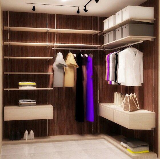 simple walk in closet