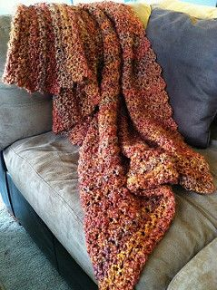 You really can make this pretty Homespun afghan in 4½ hours -- we timed it! (Lion Brand Yarn)