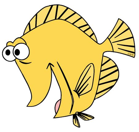 Bubble the yellow tang fish finding nemo pinterest for Finding nemo fish names