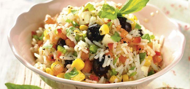 Ensalada de arroz brasileña