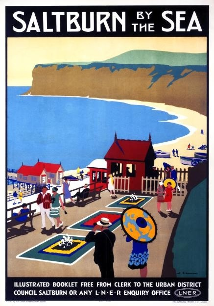 Saltburn-by-the-Sea - 1923 by Henry George Gawthorn