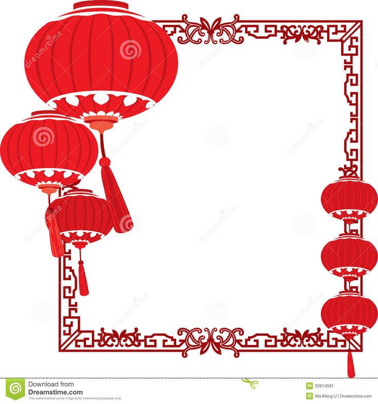 chinese red lanterns | RED Chinese lanterns decorations in different layers. By Ma Meng U .