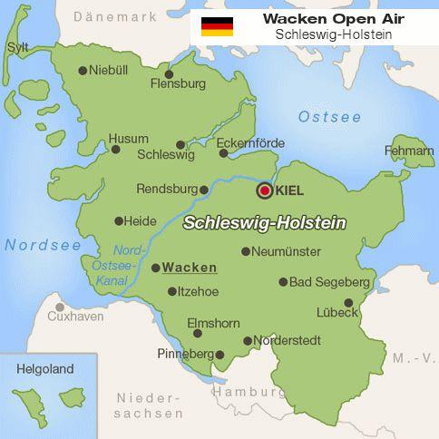 Wacken Open Air-Karte (© ferienwohnungen.de)
