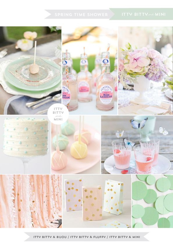 Spring Time Baby Shower Ideas by Itty Bitty & Mini blog