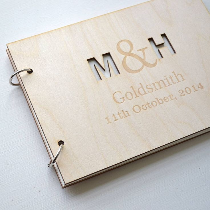 Personalised Initials Guest Book