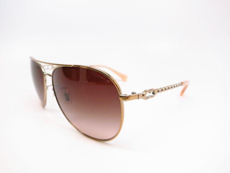 Coach HC 7045 Bree 9191/13 Gold Milky Honey Sunglasses