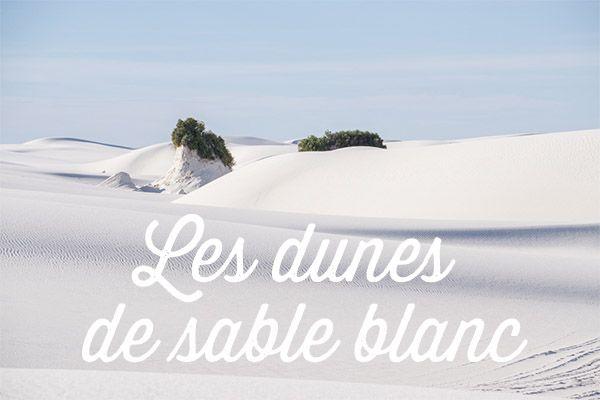 dunes de sable blanc nouveau mexique