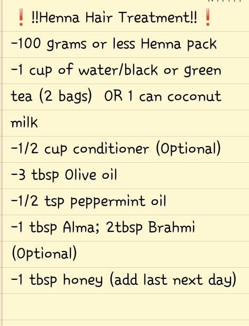 A-For 100g of henna, you're gonna need 100 g of amla to preserve curls. In addition to 1 TBS of brahmi, I add bhringraj, aloe vera, neem and powdered clove buds. If I'm going to add EOs, they will be terps; peppermint oil is not a terp, though it is good for dry hair. I'll add Shea Moisture's Raw Shea Butter Conditioner as a gloss & pure apple juice as a full henna treatment. For the oil, I add 4 TBS total: safflower, Bacuri butter, Brazil nut and Caiaue oil. 2 TBS of Manuka honey is a must.