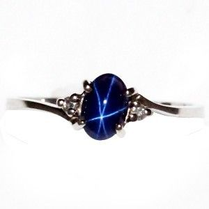 blue star sapphire ring like Momma's