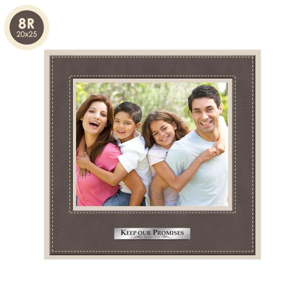 Frame Photo Leather 8R Plat