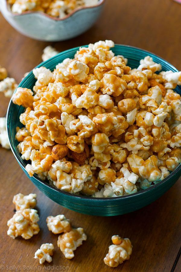 Peanut Butter Caramel CornYou'll never want plain old caramel corn again.  #refinery29 http://www.refinery29.com/2016/11/127714/best-peanut-butter-recipes#slide-26