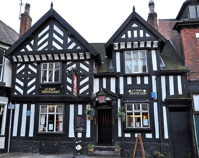 Ye olde White Lion pub in Congleton. Cheshire