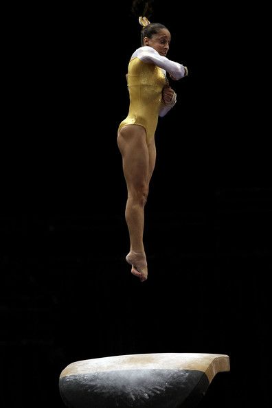 Jordyn Wieber competes on the vault during the Senior Women's competition on day two of the Visa Gymnastics Championships at Xcel Energy Center on August 18, 2011 in St Paul, Minnesota.  (August 17, 2011 - Photo by Ronald Martinez/Getty Images North America)