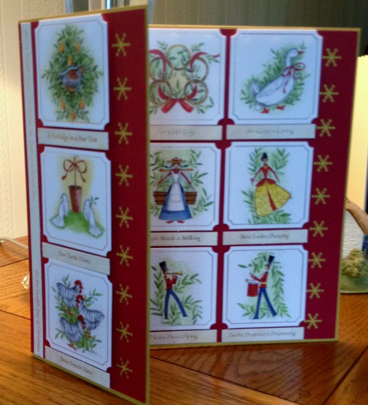 Christmas card using 12 days of Christmas pictures £1.50
