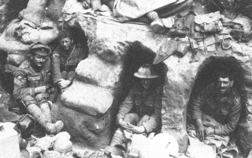 The trenches at Gallipoli.