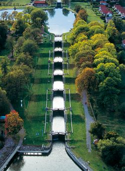 Götakanal, Sweden - One of Sweden's most important tourist attractons; major part of the water system, 382 mile canal