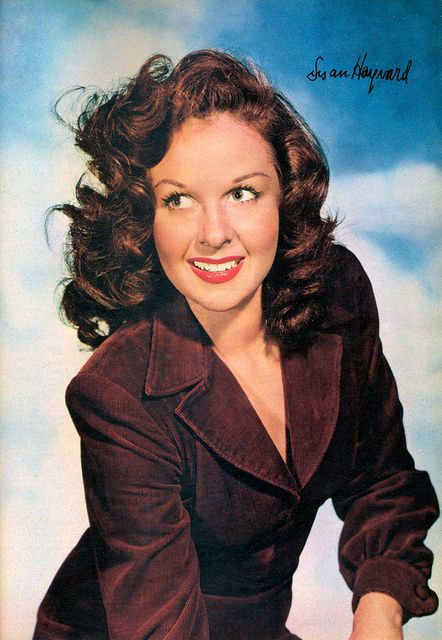 Susan Hayward/****an actress frequently paired with John Wayne