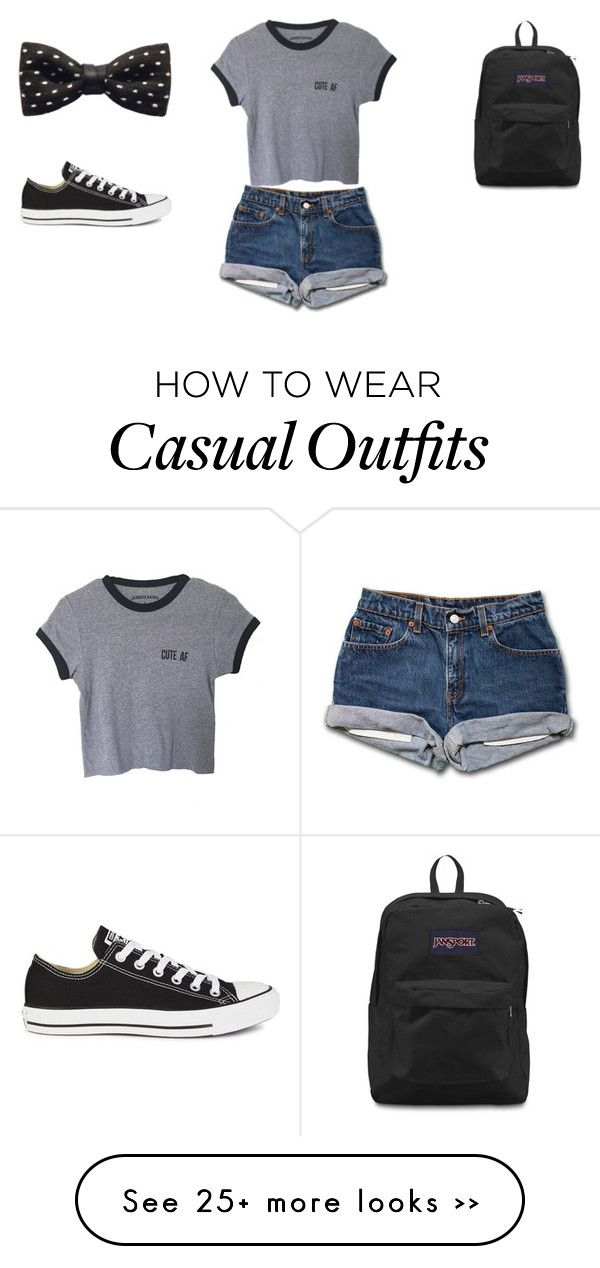 """Casual"" by callie686 on Polyvore featuring Converse, ZuZu Kim and JanSport"