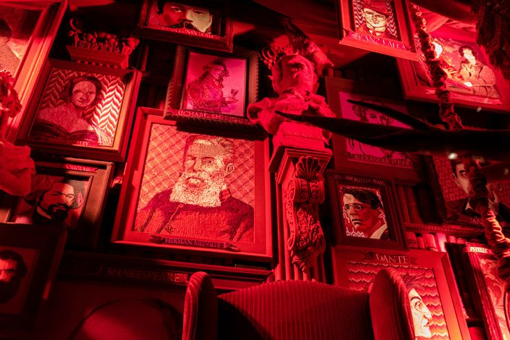 Bergdorf Goodman windows The literature window is made entirely with fabric and embellishments