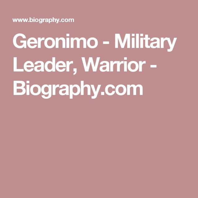 Geronimo - Military Leader, Warrior - Biography.com