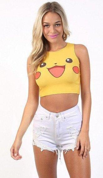 Sexy Pokémon Go Printed Sleeveless Fitness Sport T-Shirt - PokemonsGoo