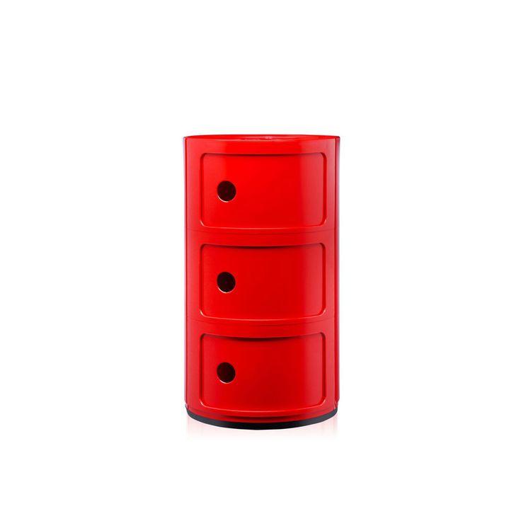 Storage Componibili by @kartelldesign   #interiordesign #red  