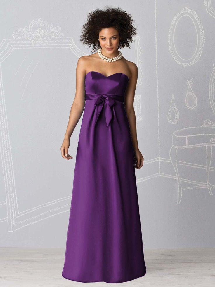 97 best strapless purple bridesmaid dress images on Pinterest ...