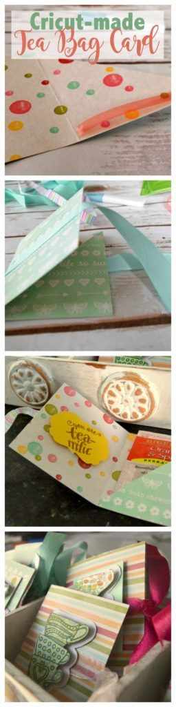 Make Tea Bag Cards with Cricut Explore Air #ad #CricutMade @OfficialCricut
