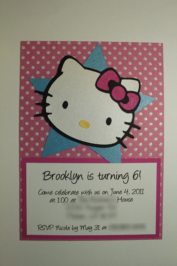 Handmade Hello Kitty invitations and .svg file