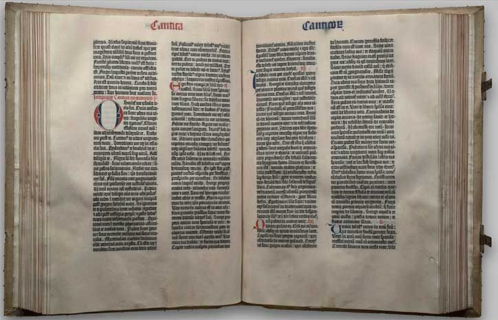The Gutenberg Bible - Library of Congress Bible Collection | Exhibitions - Library of Congress
