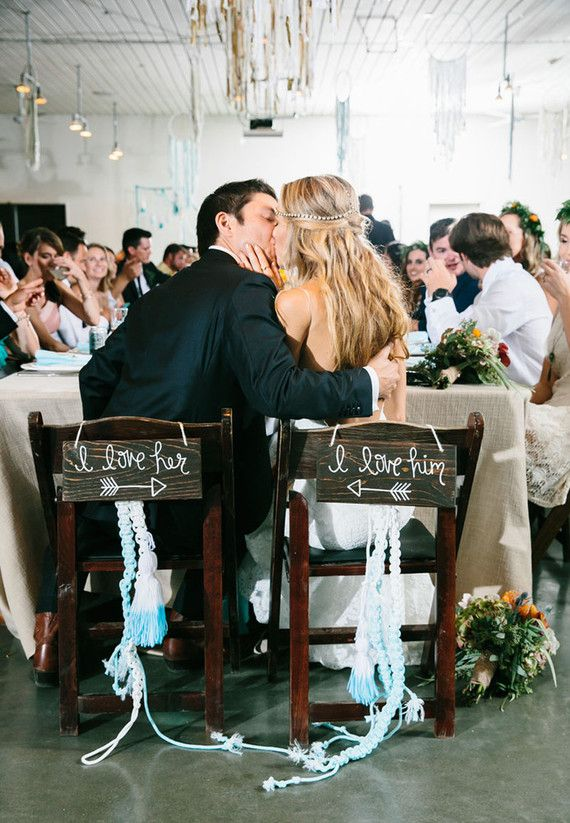 Love This Idea For Bride And Groom Chairs! See The Rest Of This Wedding On  100 Layer Cake Today. Vendors Are (s)!
