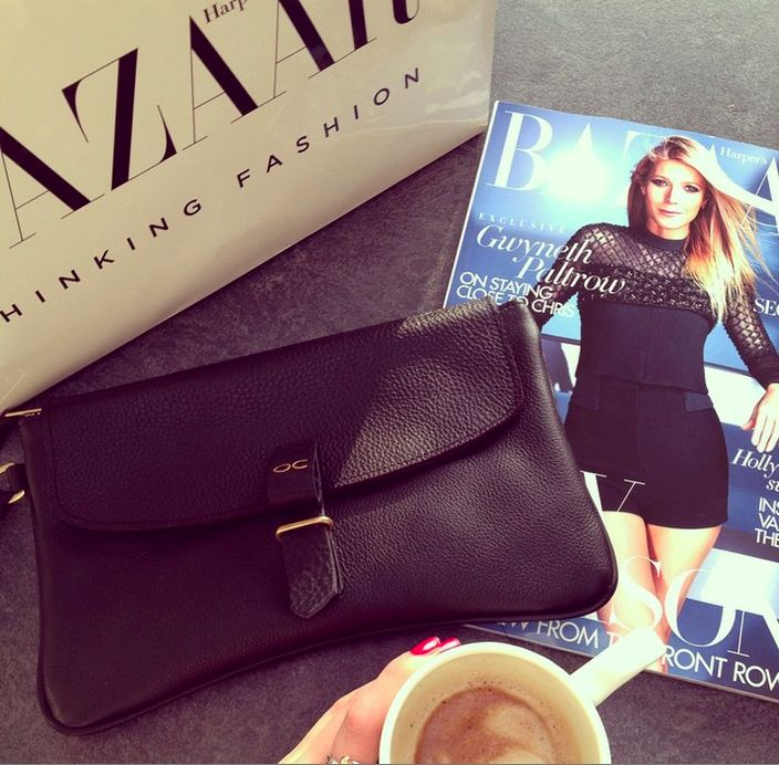 Olive Clutch - Black Leather - Available at olivecooper.com