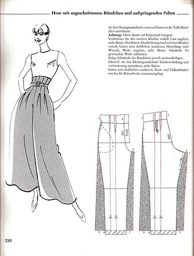 Fascinating high-waist tuck-pleated palazzo pants - wonder if some kind of sneaky stretch could be put into the waist hiding under the tucks/pleats/darts/whatever